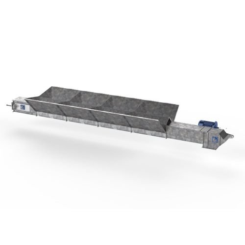 CHAIN CONVEYOR WITH INLET HOPPER